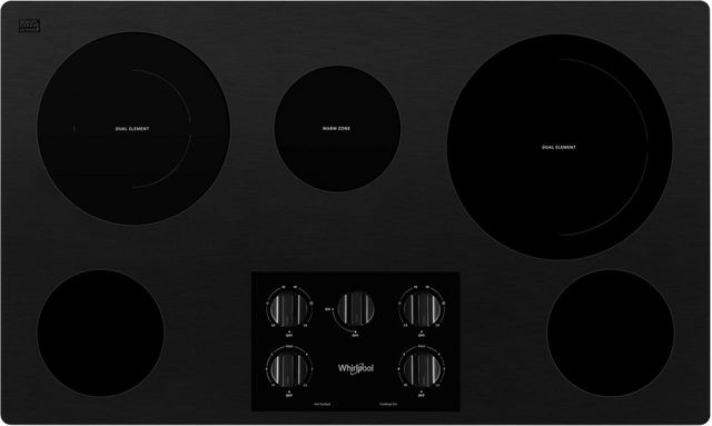 """Whirlpool® 37"""" Electric Cooktop-Black-WCE77US6HB"""