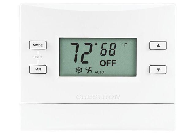 Crestron® infiNET EX® Thermostat-Almond Textured-CHV-TSTATEX-A-T