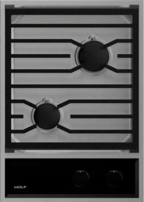 """Wolf® Transitional 15"""" Stainless Steel Gas Cooktop-CG152TF/S/LP"""