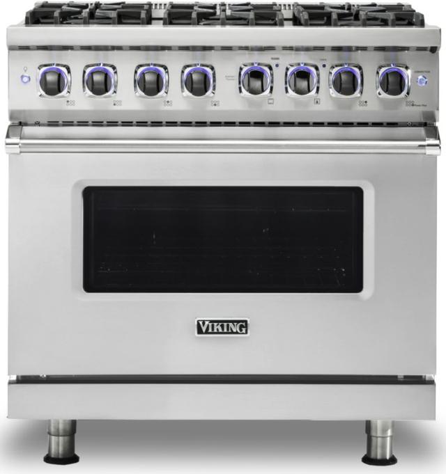 "Viking® 7 Series 36"" Stainless Steel Pro Style Gas Range-VGR73626BSS"