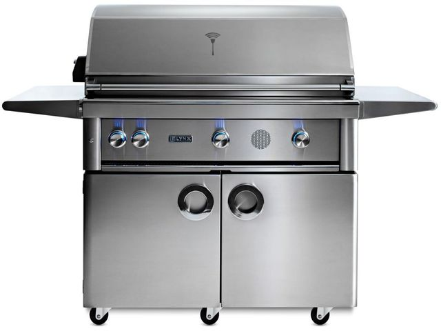"""Lynx® Professional 42"""" Stainless Steel Freestanding Smart Grill-SMART42F-NG"""