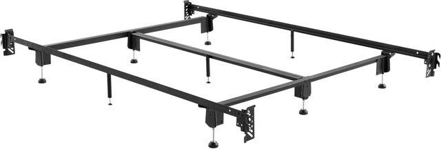 Malouf® Sleep Structures® Steelock® Twin Hook-In Headboard Footboard Bed Frame-STBHTTSL