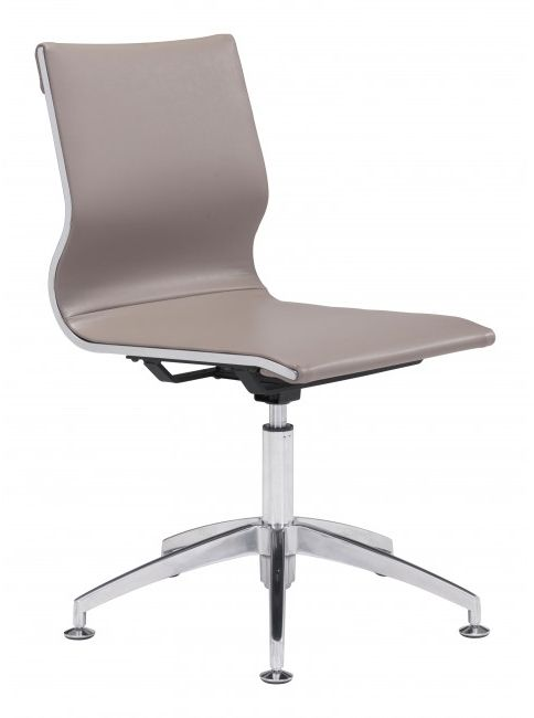 Zuo® Glider Taupe Conference Office Chair-100379