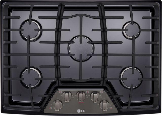 "LG 30"" Black Stainless Steel Gas Cooktop-LCG3011BD"