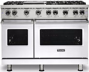 "Viking® Professional 5 Series 48"" Pro Style Gas Range-White-VGR5486GWH"