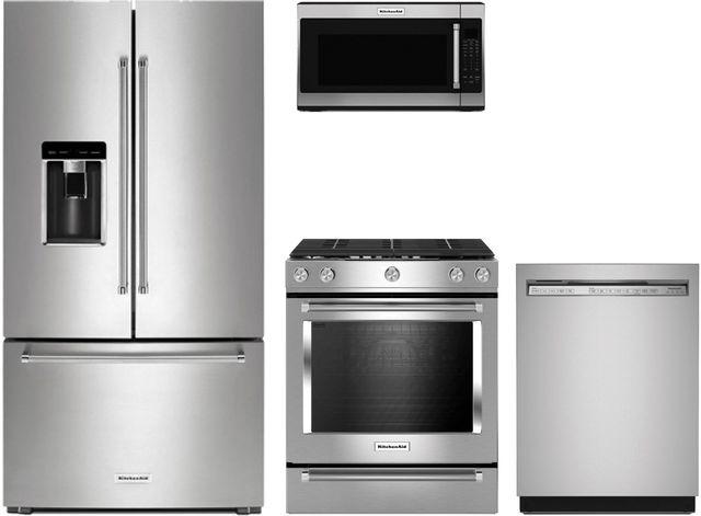 KitchenAid® 4 Piece Stainless Steel Kitchen Package-KIKITKSGG700ESS