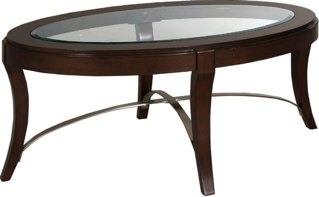 Liberty Furniture Avalon Dark Truffle Oval Cocktail Table-505-OT2010