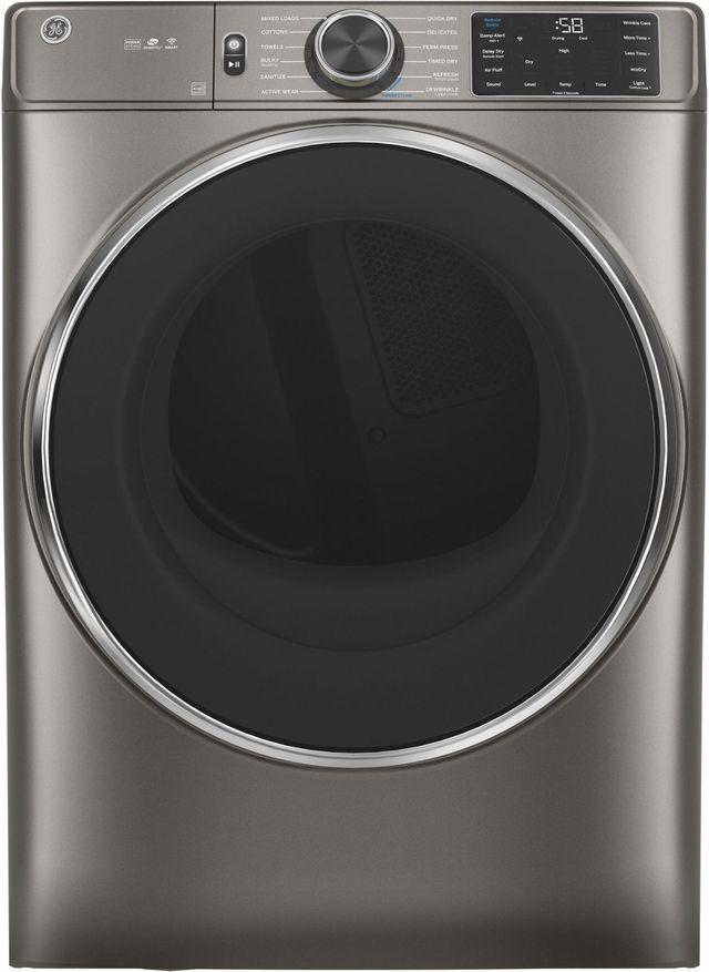 GE® 7.8 Cu. Ft. Satin Nickel Smart Front Load Electric Dryer (S/D)-GFD65ESPNSN SD