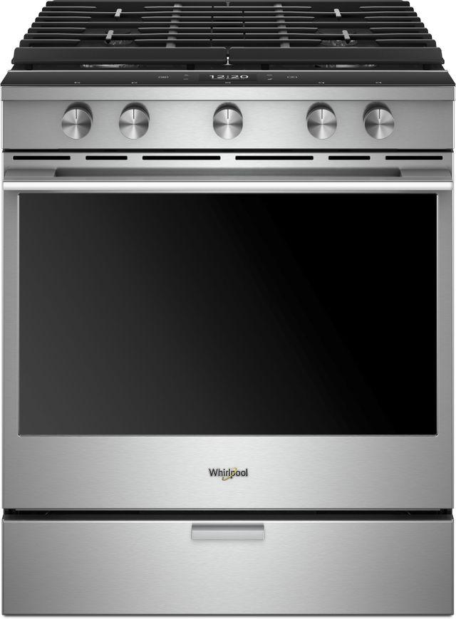Cuisinière à gaz encastrée intelligente de 30 po Whirlpool® de 5,8 pi³ - Acier inoxydable résistant aux traces de doigts-WEGA25H0HZ