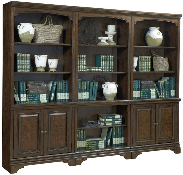 Aspenhome® Essex Molasses Brown Door Bookcases-I24-332-1