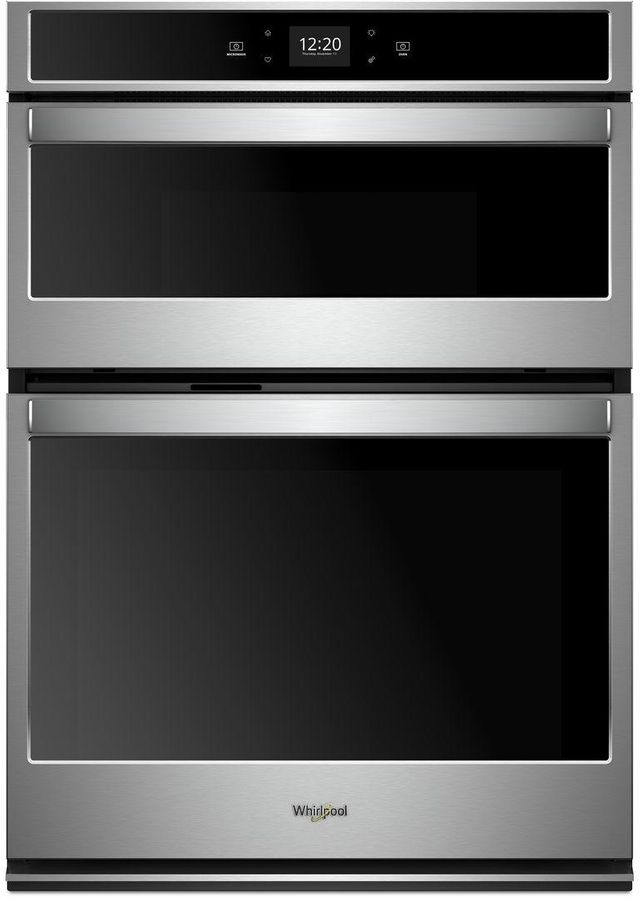 """Whirlpool® 27"""" Stainless Steel Smart Combination Wall Oven-WOC54EC7HS"""