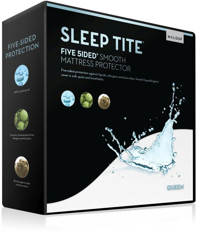 Malouf® Sleep Tite® Five 5ided® Smooth Split King Mattress Protector-SL0PSK5P