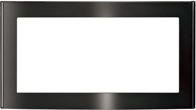 """GE® 26.88"""" Black Stainless Built In Microwave Trim-JX827BMTS"""