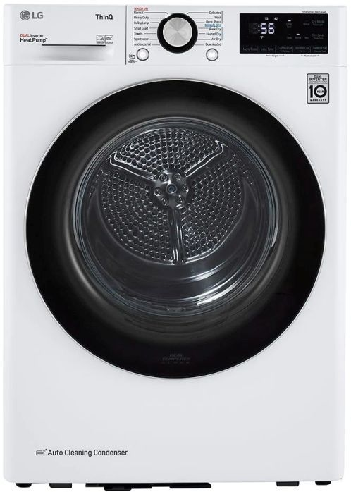 LG 4.2 Cu. Ft. White Front Load Electric Dryer -DLHC1455W