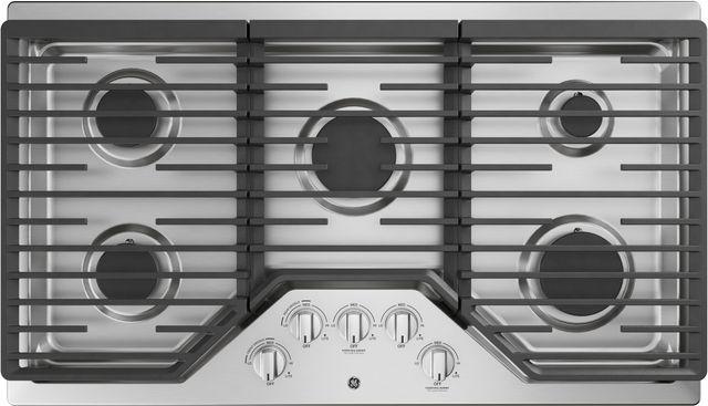 "GE® 36"" Built-In Gas Cooktop-Stainless Steel-JGP5036SLSS"