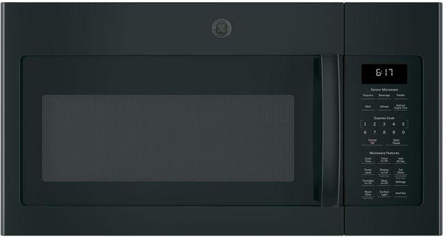 GE® Series Over-The-Range Sensor Microwave Oven-Black-JVM6175DKBB