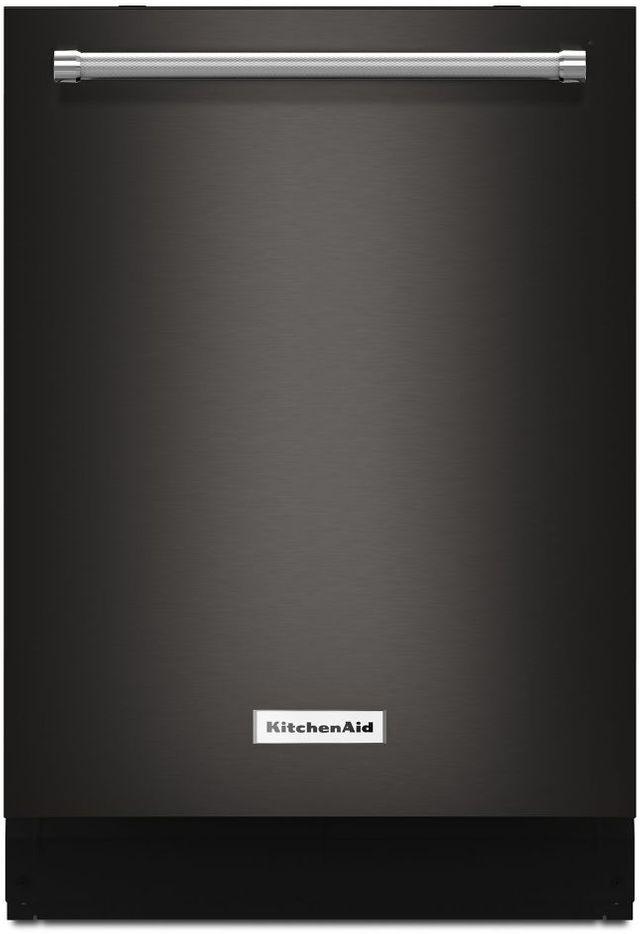 "KitchenAid® 24"" Black Stainless Steel with PrintShield™ Finish Built In Dishwasher-KDTM404EBS"