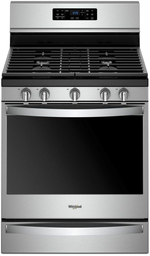"""Whirlpool® 30"""" Freestanding Gas Range-Fingerprint Resistant Stainless Steel-WFG775H0HZ"""
