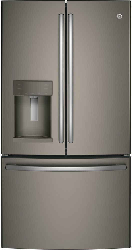 GE® 27.8 Cu. Ft. French Door Refrigerator-Slate-GFD28GMLES
