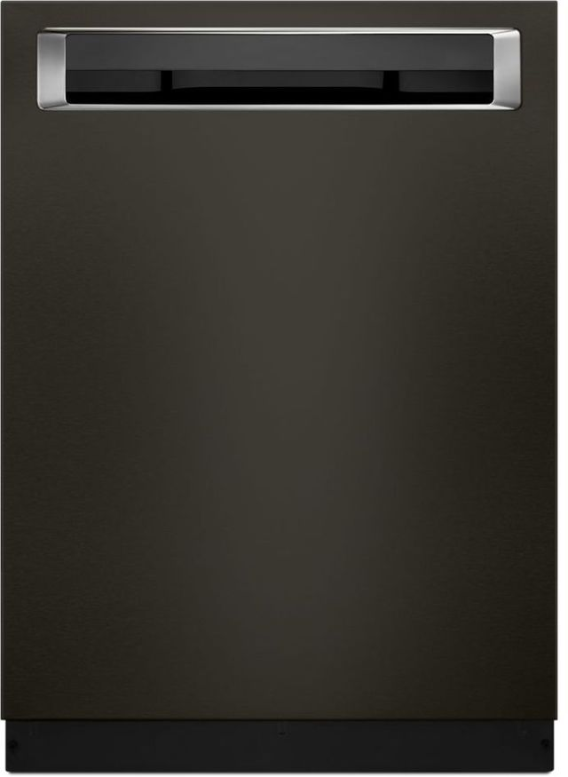 """KitchenAid® 24"""" Black Stainless Steel with PrintShield™ Finish Built In Dishwasher-KDPE234GBS"""