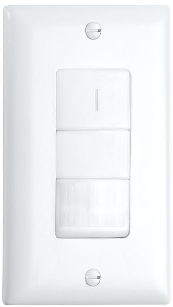 Crestron® STEINEL IR WLS 1 Passive Infrared Wall Switch Occupancy Sensor-Light Almond-GLA-IR-WLS-1-LA
