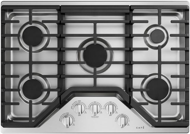 """Café™ 30"""" Stainless Steel Built In Gas Cooktop-CGP70302NS1"""