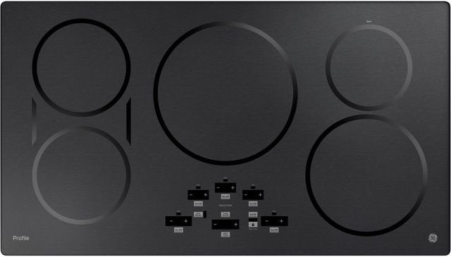 """GE Profile™ 37"""" Black Stainless Steel Induction Cooktop-PHP9036BMTS"""