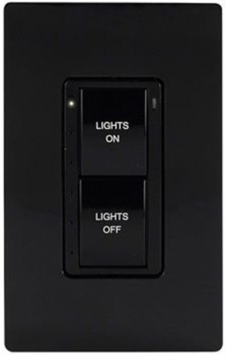Crestron® Cameo® Black Textured infiNet EX® 277V Wireless Keypad-INET-CBDEX-277-P-B-T