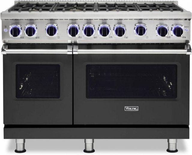 "Viking® 7 Series 48"" Cast Black Pro Style Liquid Propane Gas Range-VGR74828BCSLP"