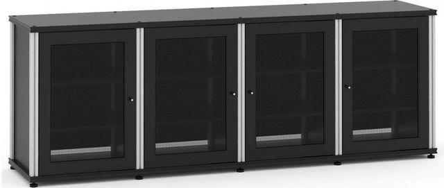 Salamander Designs® Synergy Model 347 AV Cabinet-Black/Aluminum-347B/A