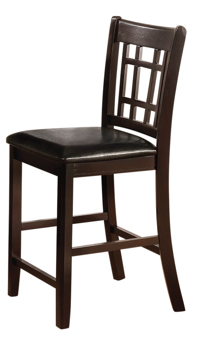 Coaster® Lavon Black Espresso Upholstered Counter Height Chair-102889