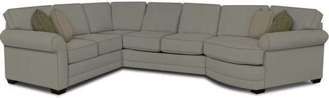 England Furniture Co. Brantley 4 Piece Culpepper Cement/Alvaro Mineral/Olivia Porcelain Sectional-5630-28-22-43-95+8612+8653+8601