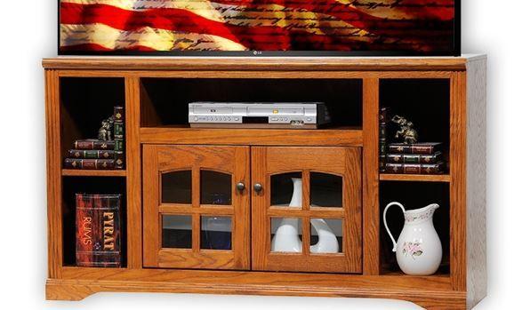 American Heartland Oak TV Stand-93551