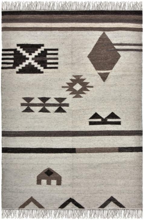 Tapis de zone Bedouin, crème/gris, Renwil®-RBED-18502-912