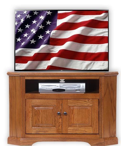 American Heartland Oak Corner TV Stand-93730