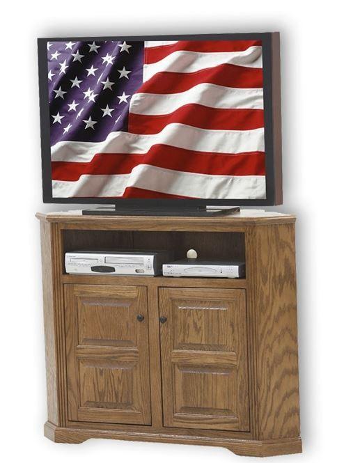 American Heartland Oak Tall Corner TV Stand-93737