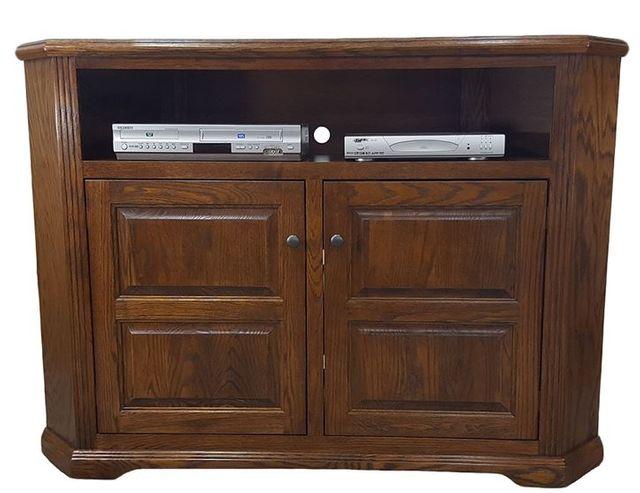 American Heartland Oak Tall Corner TV Stand-93743