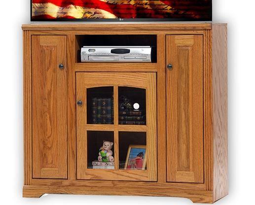 American Heartland Oak Tall TV Stand-93848