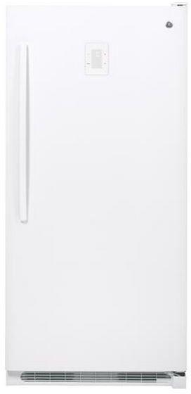 GE® 20.2 Cu. Ft. Upright Freezer-White-FUF20DHRWW