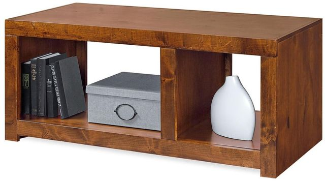 Aspenhome® Contemporary Alder Smokey Grey Cocktail Table-DL900-GRY