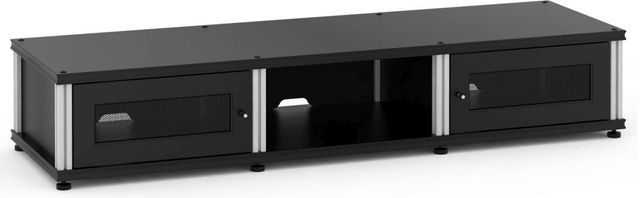 Salamander Designs® Synergy Model 132 AV Cabinet-Black/Aluminum-SB132B/A