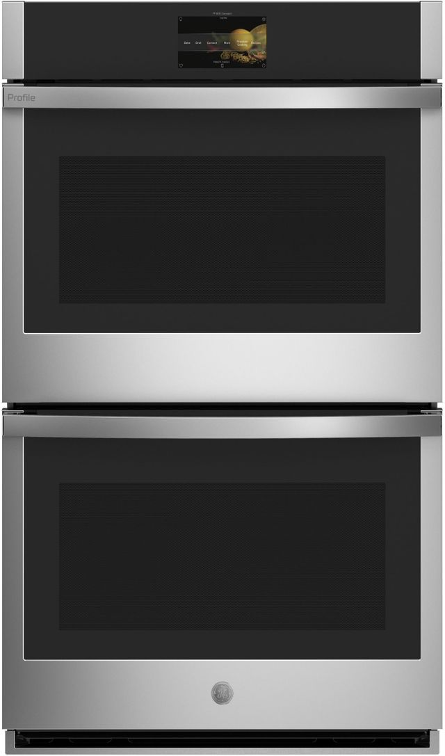 """GE Profile™ 30"""" Stainless Steel Electric Double Wall Oven Built In-PTD9000SNSS"""