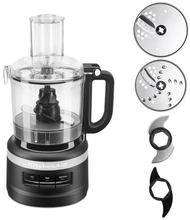 KitchenAid® 7 Cup Black Matte Food Processor Plus-KFP0719BM