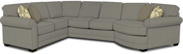 England Furniture Co. Brantley 4 Piece Culpepper Cement/Alvarado Mineral/Perdue Bark Sectional-5630-28-22-43-95+8612+6942+8601