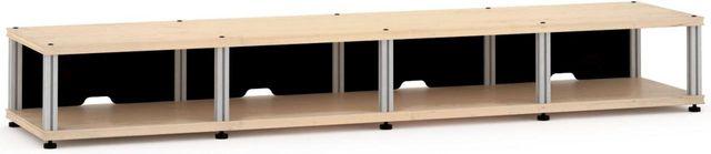 Salamander Designs® Synergy Quad 10 AV Cabinet-Natural Maple/Aluminum-SQ10M/A
