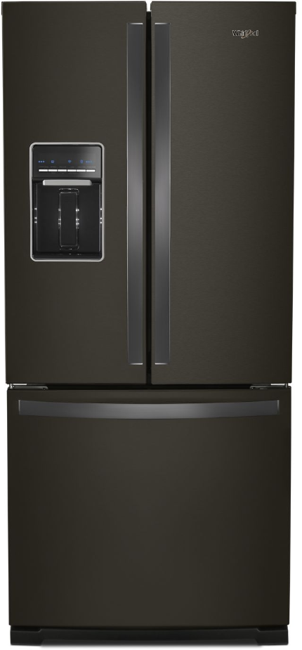 Whirlpool® 19.68 Cu. Ft. French Door Refrigerator-Fingerprint Resistant Black Stainless-WRF560SEHV