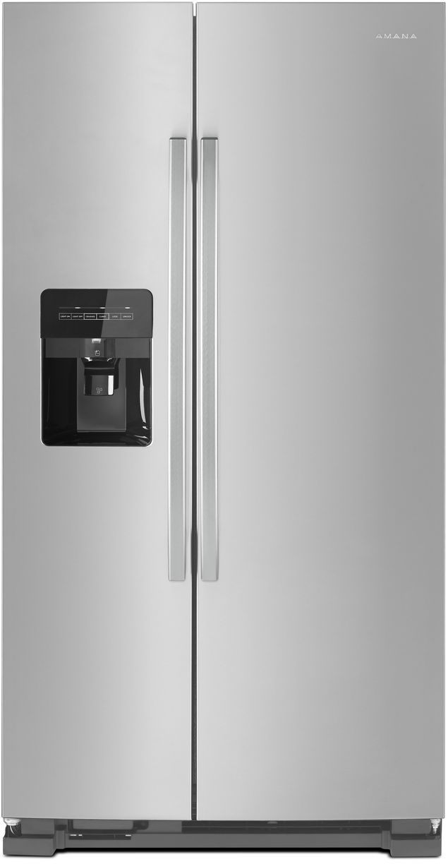Amana® 24.57 Cu. Ft. Black on Stainless Side-By-Side Refrigerator-ASI2575GRS