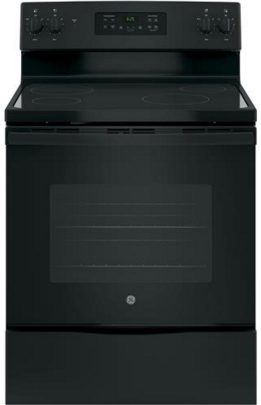 "GE® 30"" Free Standing Electric Range-Black-JB625DKBB"