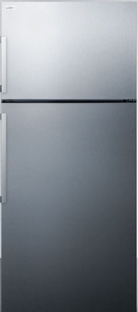 Summit® 12.6 Cu. Ft. Counter Depth Refrigerator-Stainless Steel-FF1512SSIM