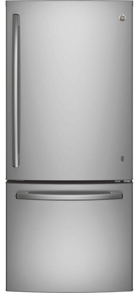 Réfrigérateur à congélateur inférieur de 30 po GE® de 20,9 pi³ - Acier inoxydable-GDE21DSKSS